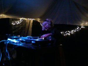 Ann D mixing vinyl