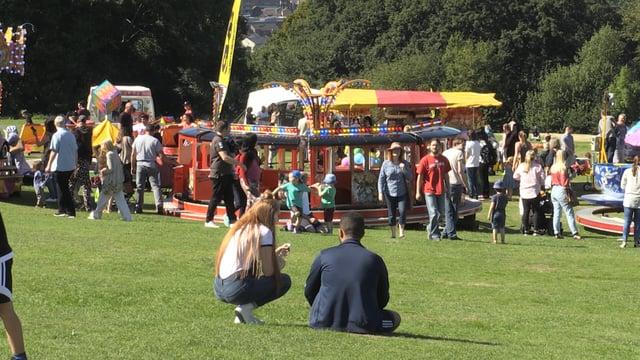 Families enjoy bank holiday at the Sheffield Fayre