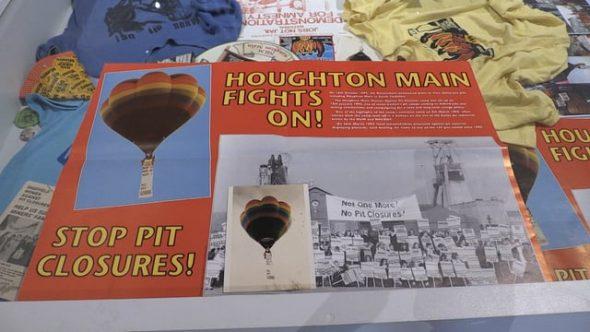 Women's pit camp memorabilia on display