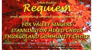 Concert - John Rutter Requiem & Supporting Programme @ Victoria Hall Methodist Church. Sheffield | England | United Kingdom