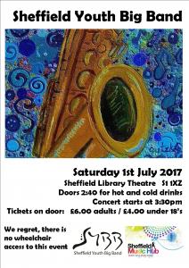 Sheffield Youth Big Band  ( SYBB ) Summer gig @ Sheffield Library Theatre | England | United Kingdom