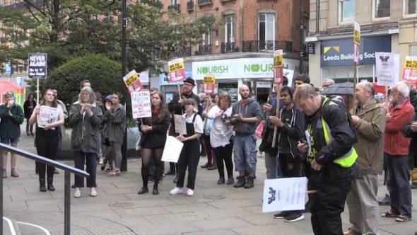 Sheffield vigil for Charlottesville attack
