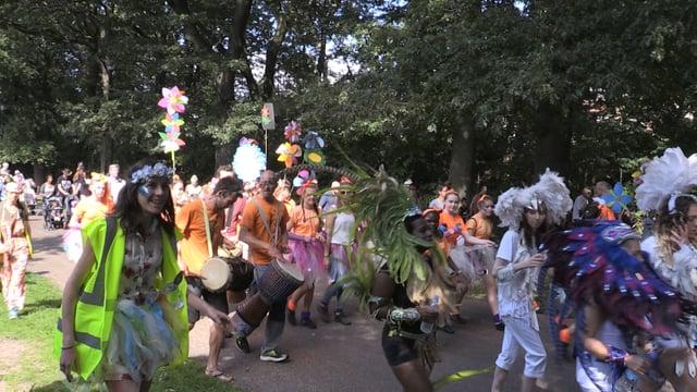 Sheffield Carnival parade at Norfolk Park