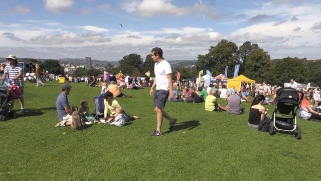 Sheffield Fayre goers enjoy the sun
