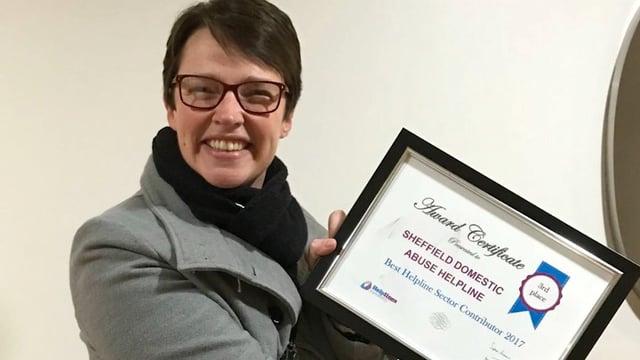 Sheffield charity helpline wins national award
