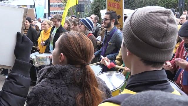 University staff strike over pensions row