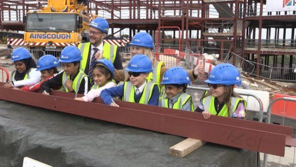 Metalwork sign-off marks new school milestone