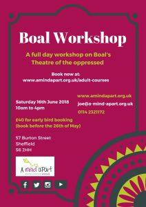 Boal Workshop @ Burton Street Foundation | England | United Kingdom