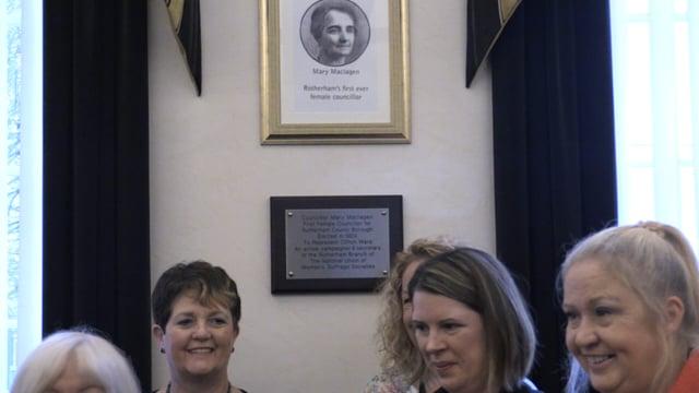 Rotherham suffrage pioneer honoured