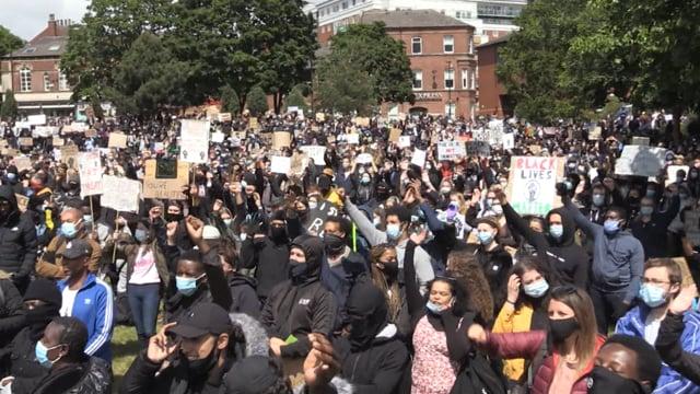 Thousands gather in Sheffield Black Lives Matter protest